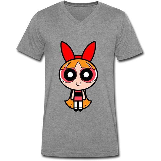 Girls Men's Cotton V-Neck T-Shirt N25RS