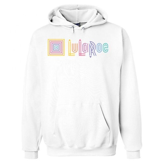 LuLaRoe Logo White Hoodie AI15N
