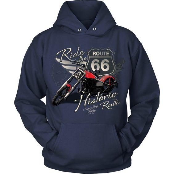 Ride The Route 66 Hoodie EM27N