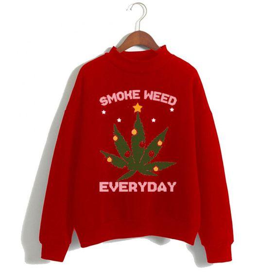 Smoke Weed Christmas Sweatshirt ER15N