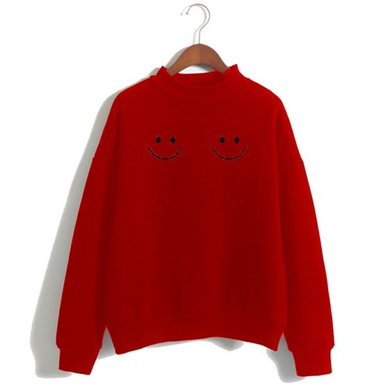 Twin Smile Boobs Sweatshirt ER15N