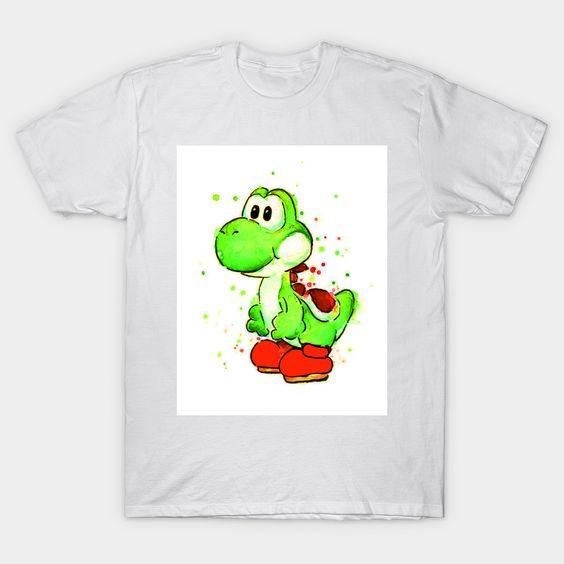 Yoshi Water Color Art T-shirt N12FD