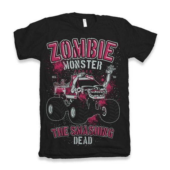 Zombie Monster Truck T-Shirt EM6N
