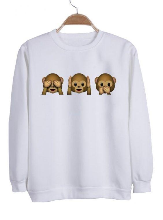 emoji monkey sweatshirt N21NR