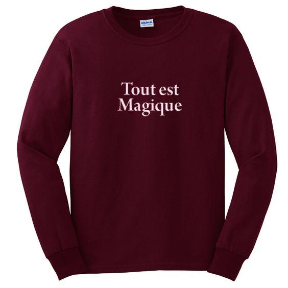 tout est magique sweatshirt N22AY