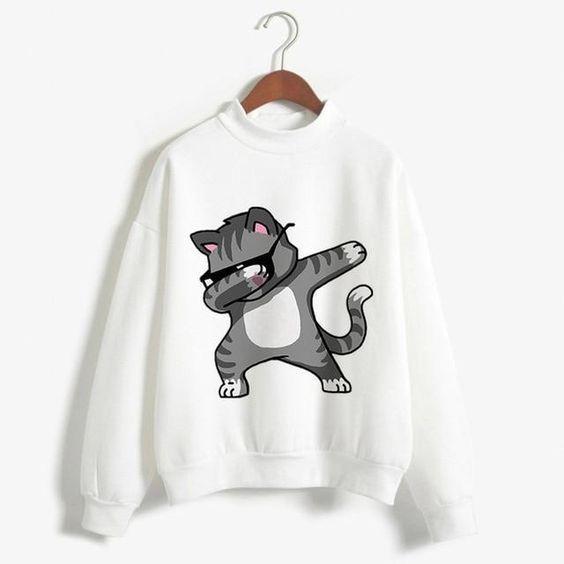 Cat Dabbing Sweatshirt AZ2D