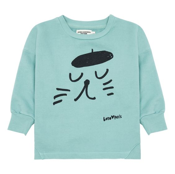 Cat Green Sweatshirt D4ER