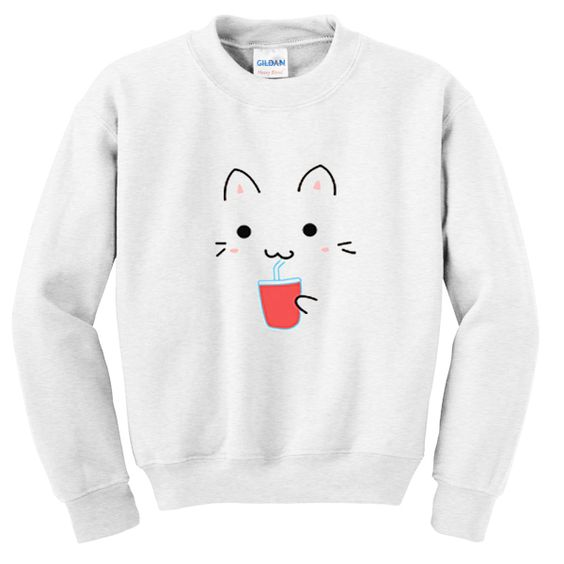 Cute kawaii cat sweatshirt D4ER