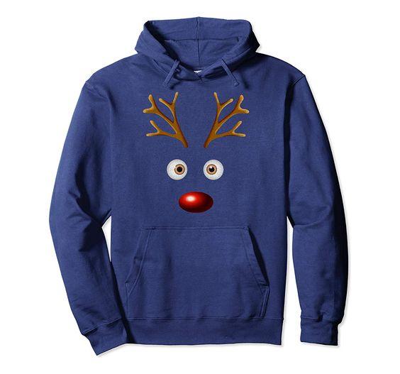 Funny Reindeer Christmas Hoodie D7AZ