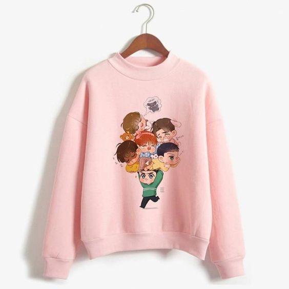 K Pop EXO Sweatshirt AZ2D