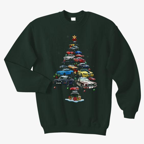 Mustang Christmas Sweatshirt D3EM