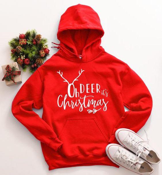 Oh Deer It's Christmas Hoodie D7EM