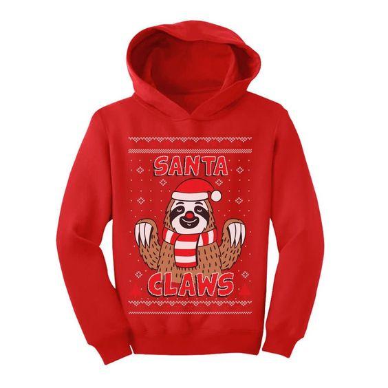 Santa Claws Hoodie D7EM