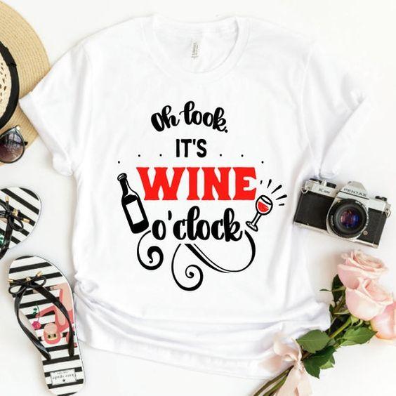 Wine O'Clock T Shirt SR5D