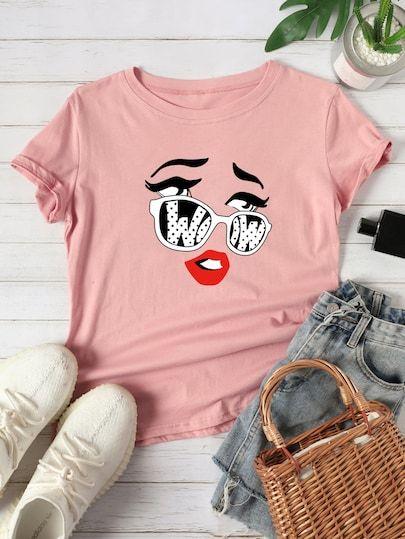 Women Woow Glasses Tshirt FD21D