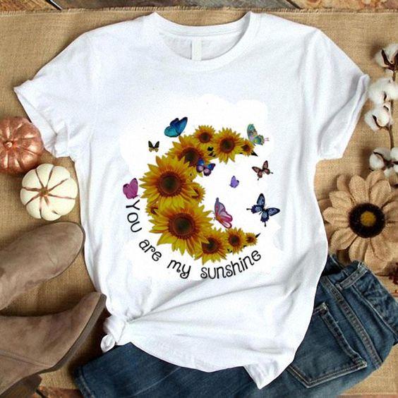 You are my sunshine sunflower shirt FD21D
