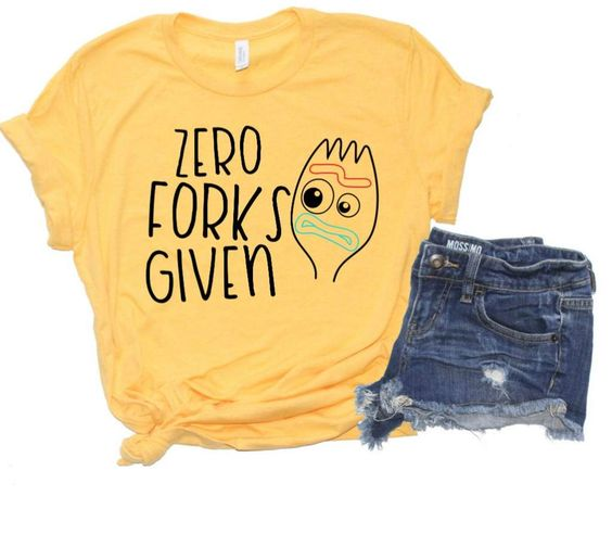 Zero Forks Given Tshirt FD21D
