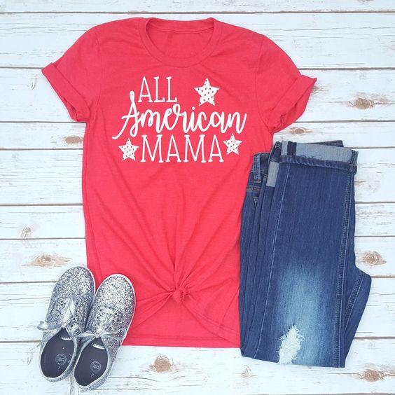 All American Mama T-Shirt ND27J0