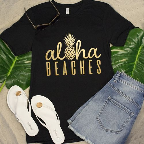 Aloha Beaches Pineapple Tshirt EL13J0