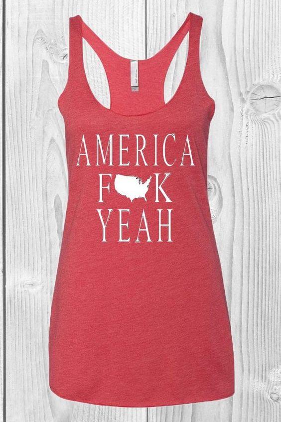 America F Yeah Tanktop ND27J0