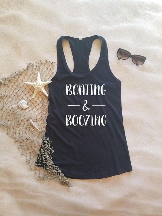 Boating & Boozing Tank Top DL17J0