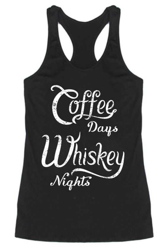 Coffee & Whiskey Tanktop ND21J0