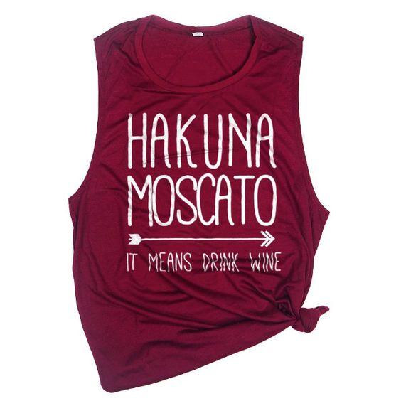 Hakuna Moscato Muscle Tanktop ND27J0