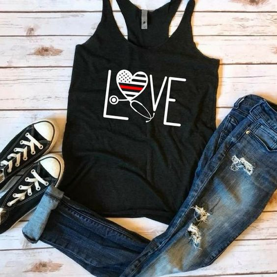 LOVE Thin Red Line tanktop Fd27J0