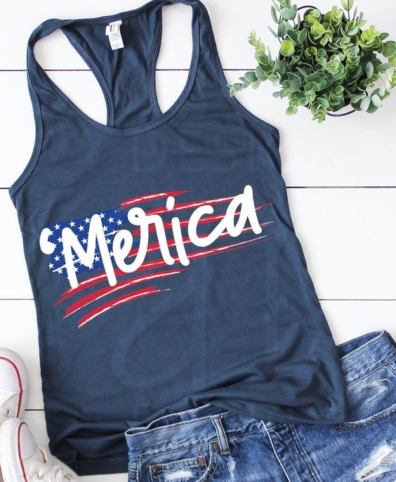 Merican Flag Tanktop ND27J0