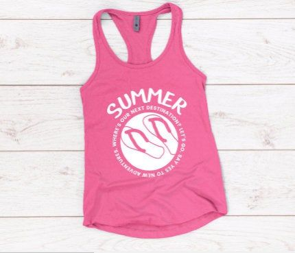 Pink Women's Tank Top DL17J0