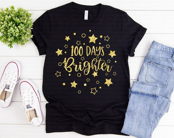 100 Days Brighter T-Shirt ND3F0