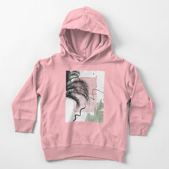 Banana Palms Abstract Hoodie FD8F0