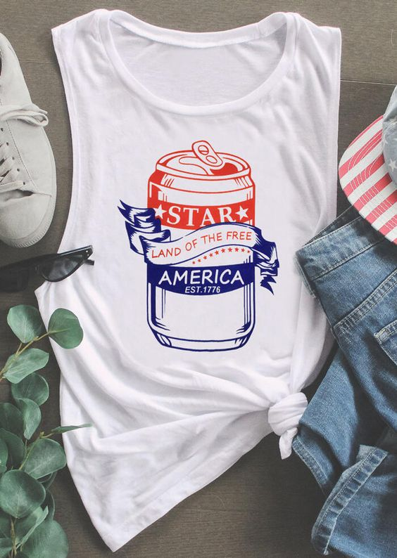 Star Land Of The Free Tanktop FD10F0