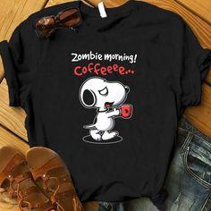 Zombie Morning Coffeee Tshirt EL10F0