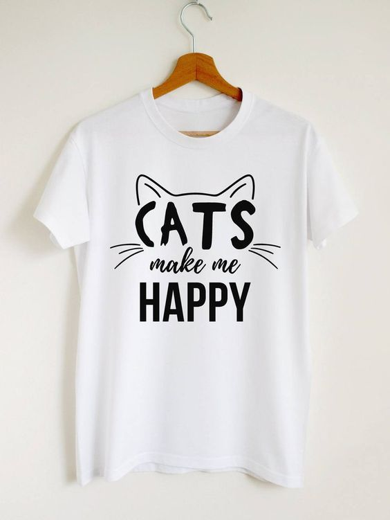 cats make me happy T Shirt SR22F0