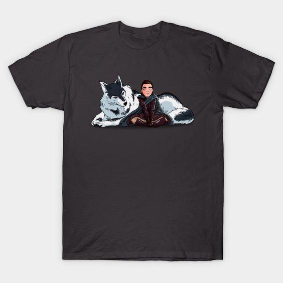 Arya and Nymeria T-Shirt AF30M0