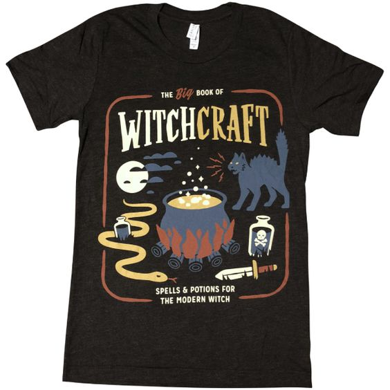 Book of Witchcraft T Shirt AF26M0