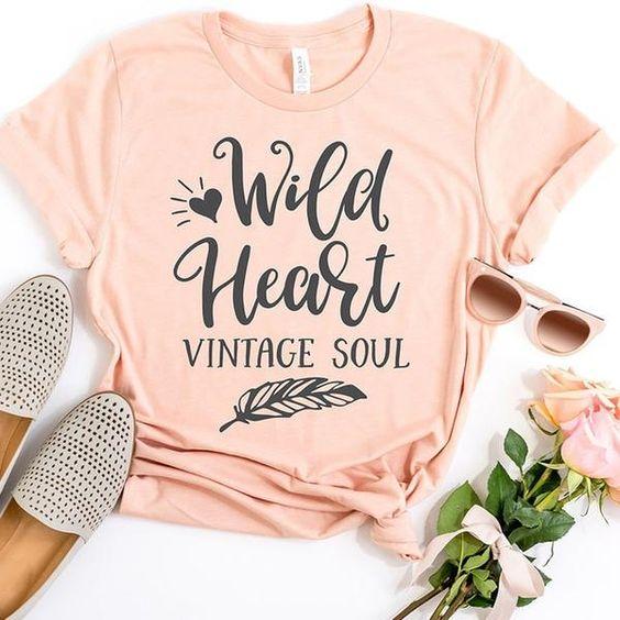 Wild Heart Vintage Soul T-shirt RF7M0