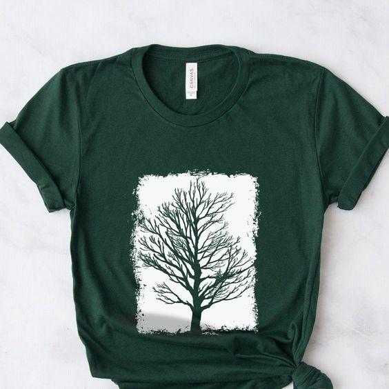 Winter Tree Silhouette T-shirt FY2M0