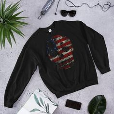 American Skull Sweatshirt AS9A0