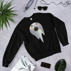 Vaporwav Ghost Sweatshirt AS9A0