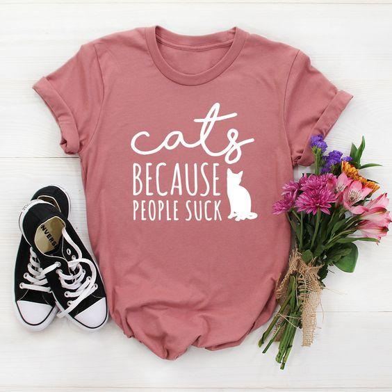 Cats Because Tshirt AS30JN0