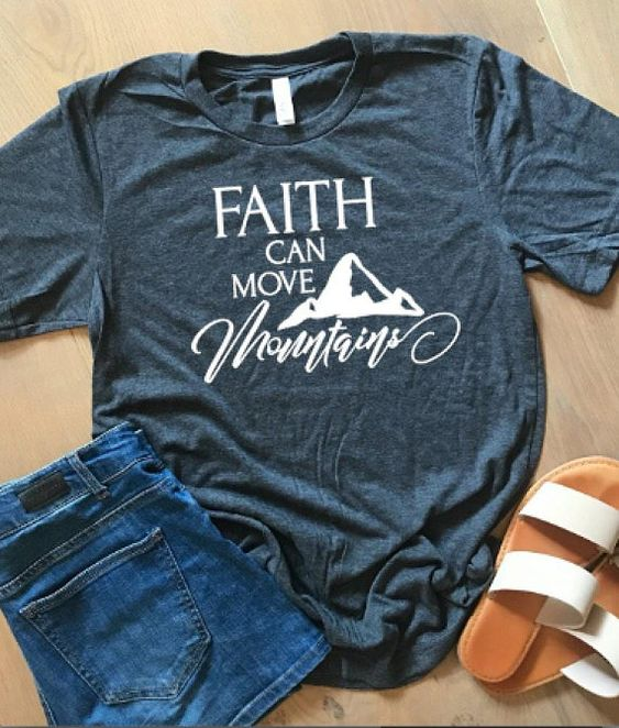 Faith can move mountains tshirt AS30JN0