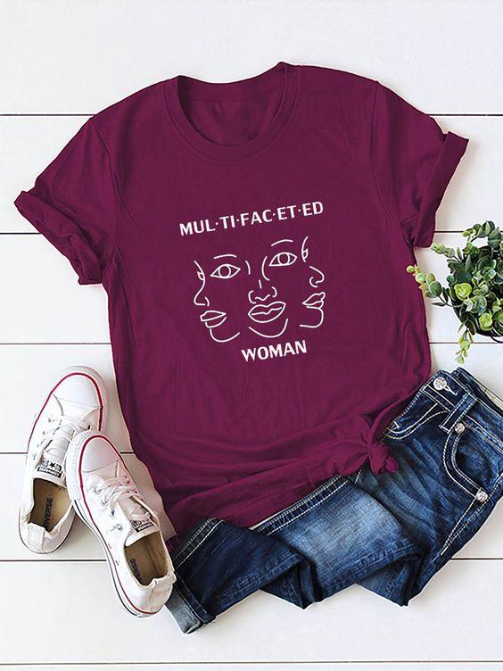 Multifaceted Woman T-Shirt AN18JL0