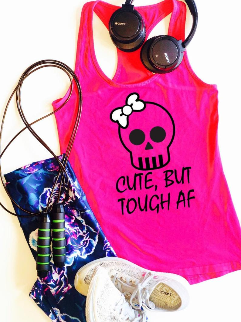 Cute but Tough AF Tanktop TU26AG0