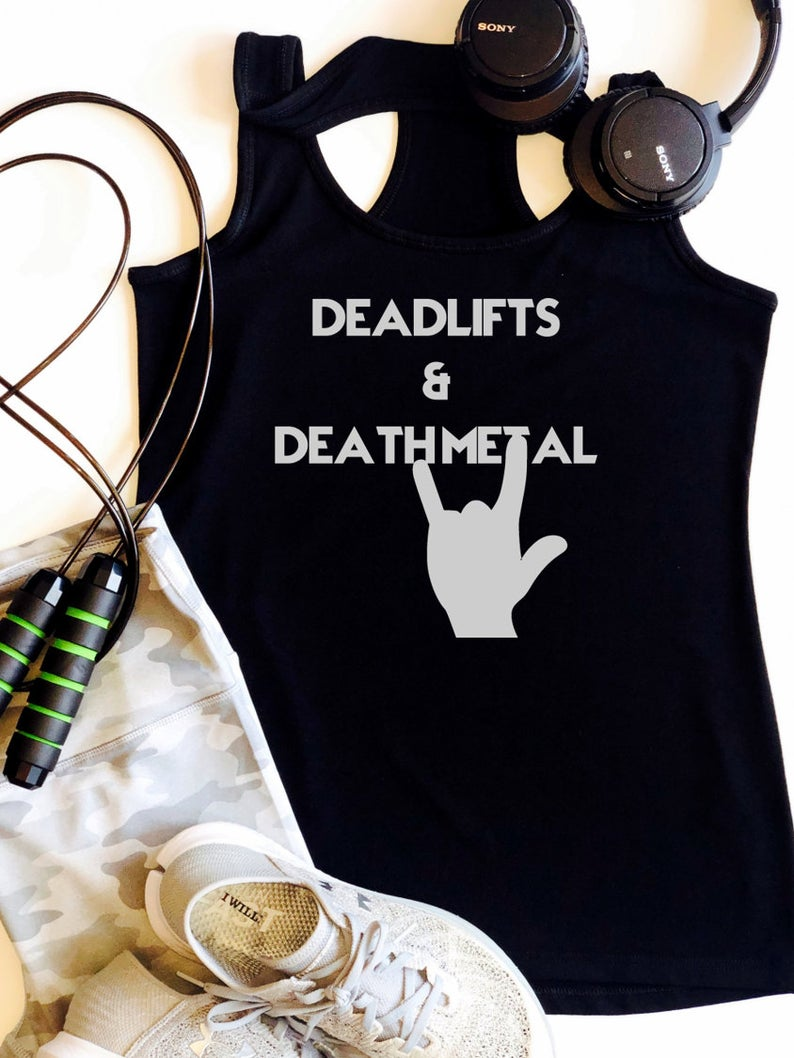 Deadlifts & Death Metal Tanktop TU26AG0