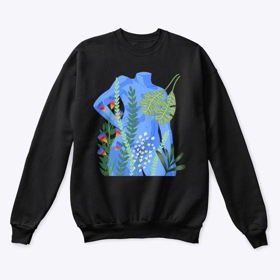 Woman With Plants Sweatshirt EL23F1