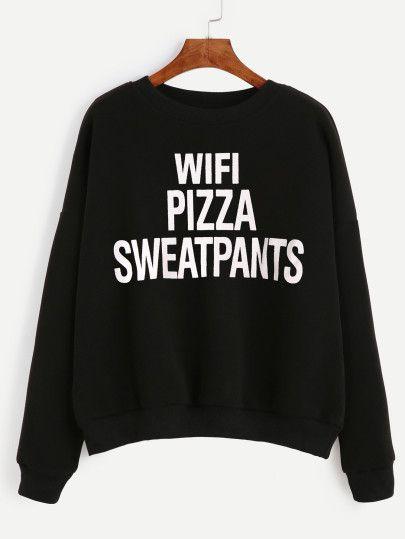 Wifi Pizza Sweatpants Sweatshirt AL5MA1