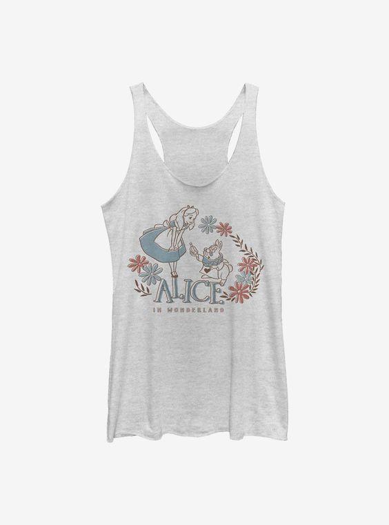 Disney Alice In Wonderland Alice And Rabbit Girls Tank Top FA8MA1
