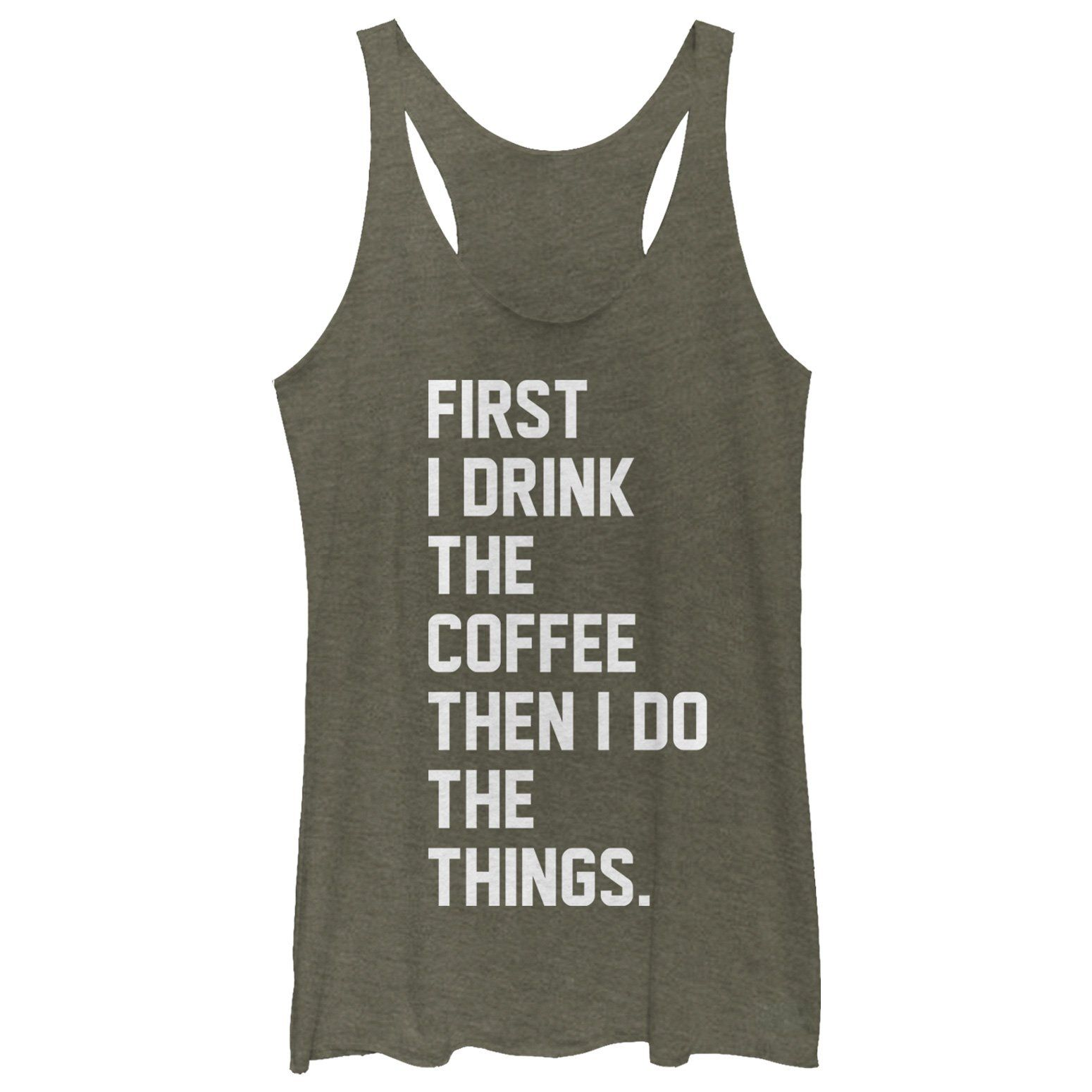 First Coffee Then Things Tank Top DK26MA1